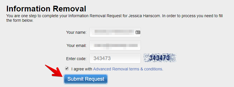 submit the opt-out request from pub360.com