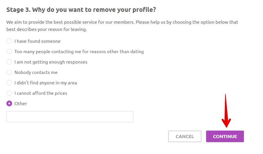how to delete cupid.com account