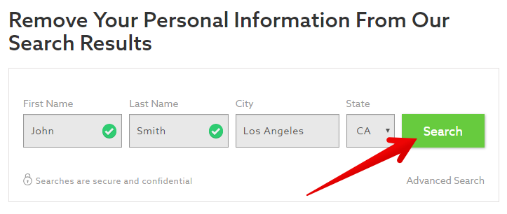 How to remove personal records from peoplewhiz.com