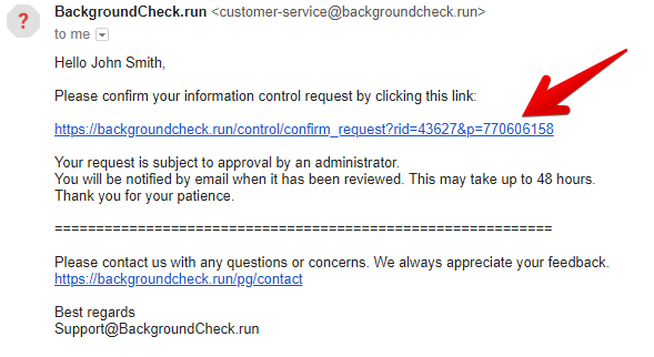 remove personal information from backgroundcheck.run
