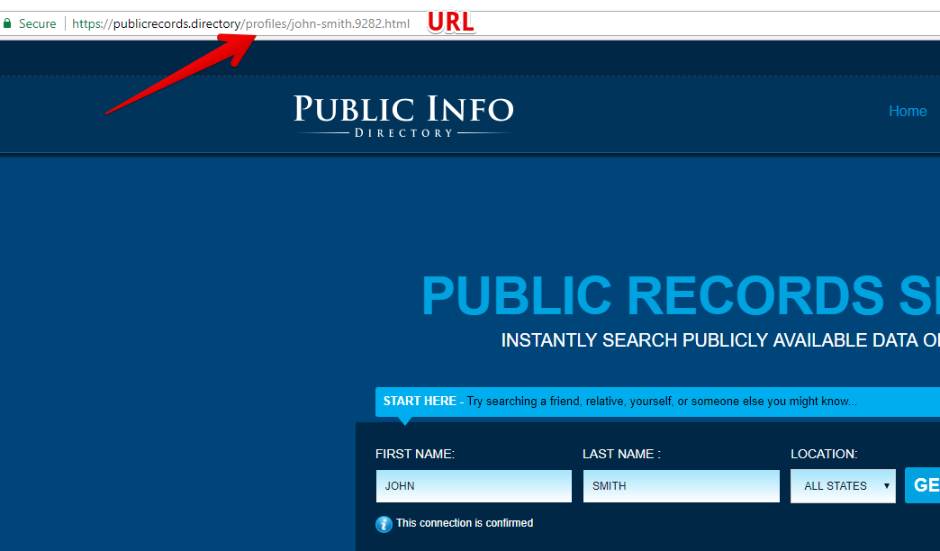 how to remove records from publicrecords.directory