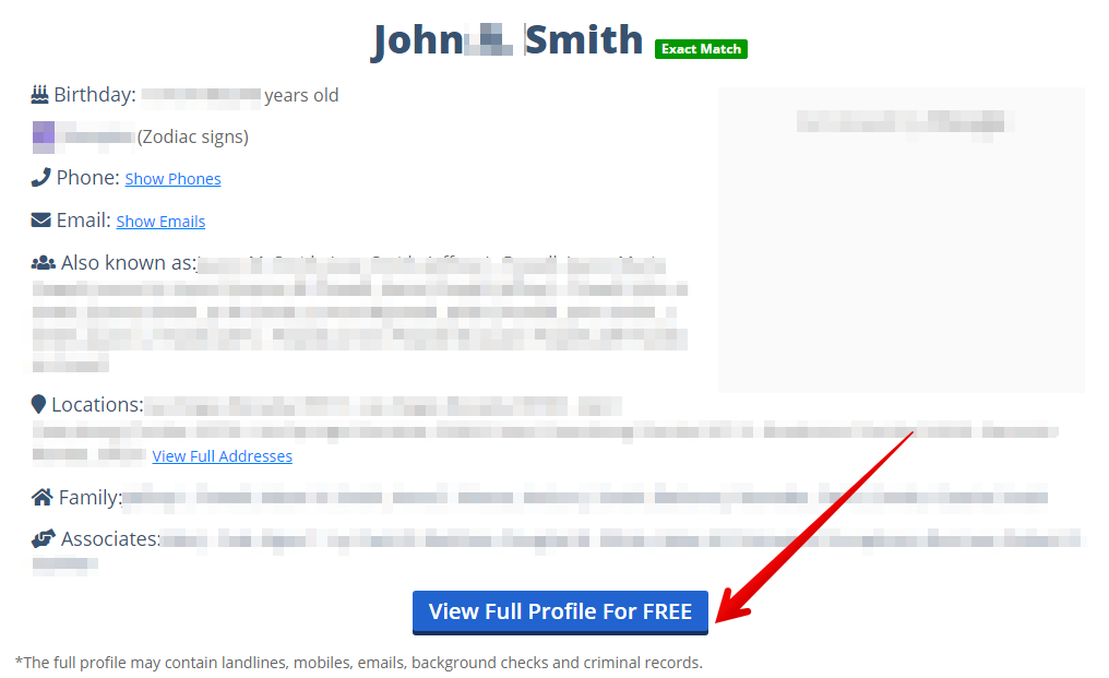 How to remove personal information from freepublicprofile com