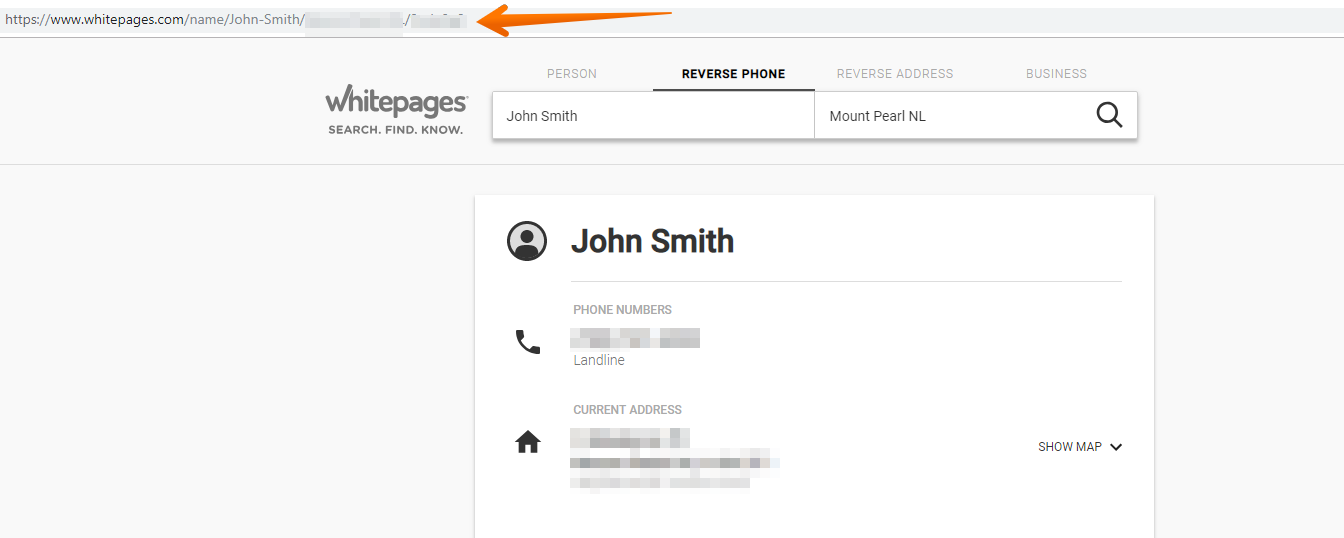 How to remove personal information from whitepages com