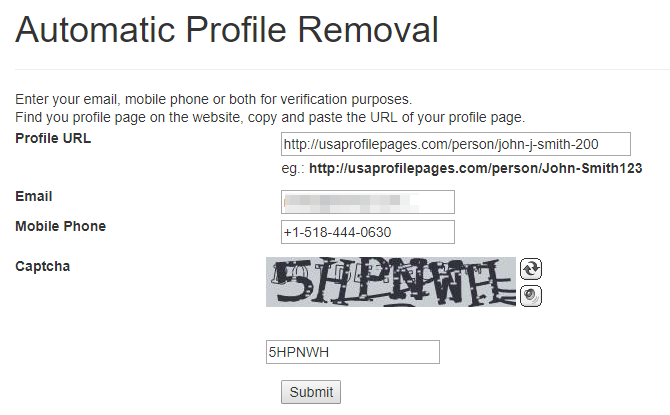 remove your records from usaprofilepages.com