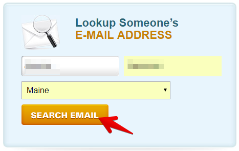 enter your first and last names to find what addresssearch.com has on you