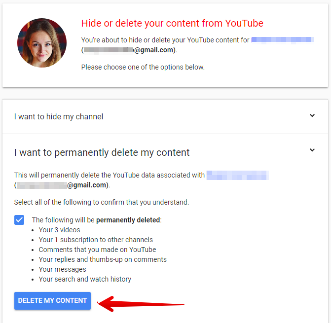 how to delete youtube channel permanently