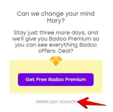 how to remove badoo.com account