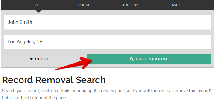 how to remove records from fastpeoplesearch.com