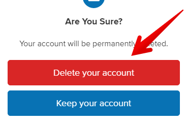 how to delete about.me account