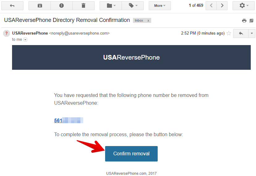 how to remove personal records from usareversephone.com