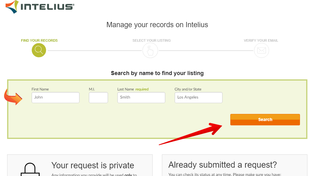 How to remove personal records from Intelius.com