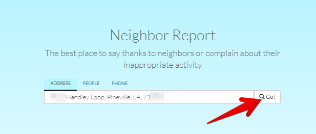 remove personal records from neighbor.report