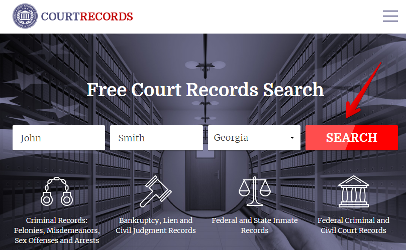 how to remove records from courtrecords.org