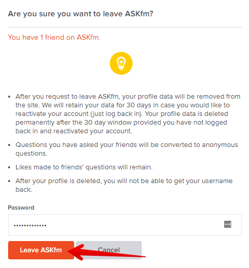 How to delete Ask.fm account