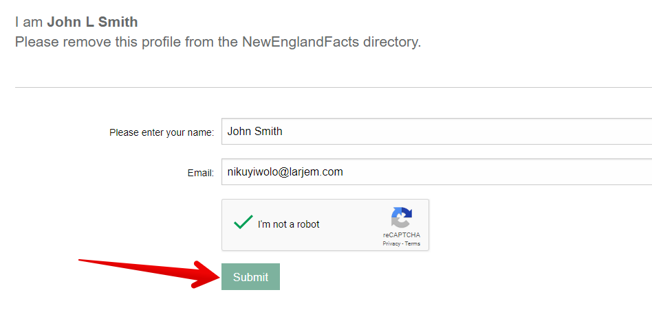 how to remove yourself from newenglandfacts.com